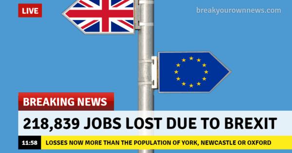 Brexit Job Loss Index: 224,585 Jobs Lost As Of 23 April 2019