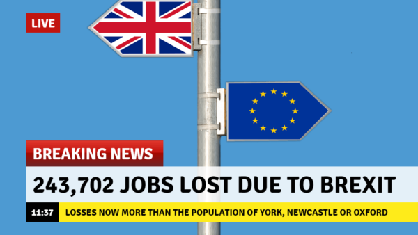 Brexit Job Loss Index: 243,702 Jobs Lost As Of 9 July 2019